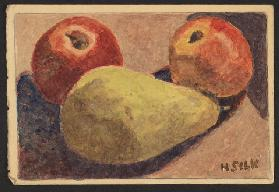 Apples and pears, c.1930 (pencil & w/c on paper)