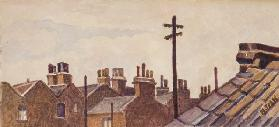 Roof-tops from Rounton Road, c.1930 (pencil & w/c on paper)