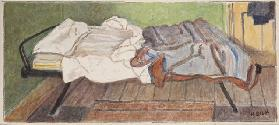 Camp bed, c.1930 (pencil & w/c on paper)