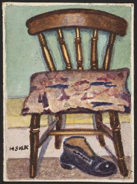 Kitchen Chair and Boot, c.1930 (pencil & w/c on paper)