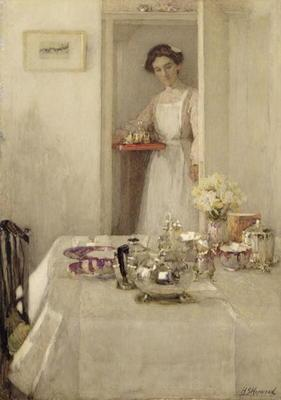 The Breakfast Table, 1907 (w/c and gouache on paper)