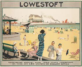 Poster advertising Lowestoft,