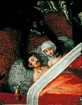 The Inferno, Couple in a bed surrounded by monstrous animals