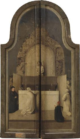The Adoration of the Kings. (Triptych, reverse)