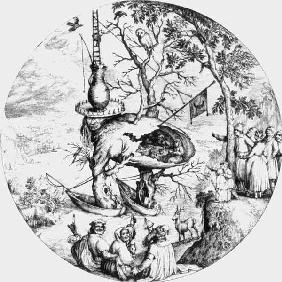 after H.Bosch, The Tree-Man / engraving