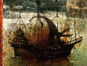 Fantastical Boat, detail from the right hand panel of the Triptych of the Crucified Martyr