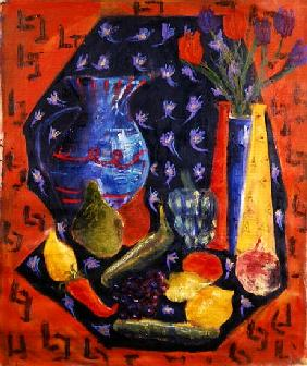 Blue and Red Jug, 2003 (oil on canvas)