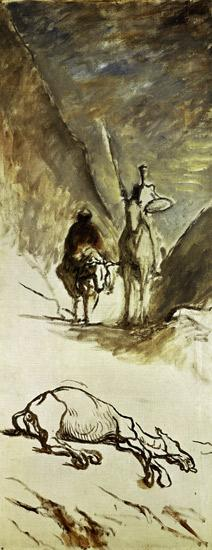 Daumier/Don Quichotte et la mule morte