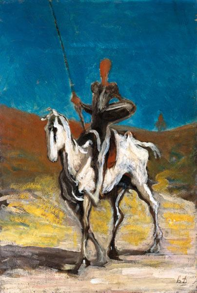 Cervantes / Don Quichotte / Daumier