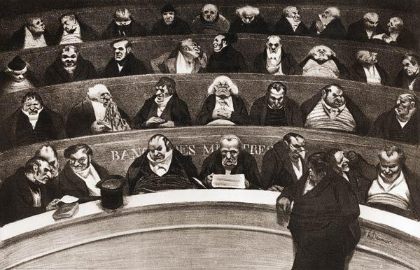 ''Le ventre legislatif'' / Honore Daumier