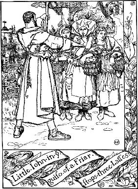 "Illustration to the book ""The Merry Adventures of Robin Hood"" by Howard Pyle"