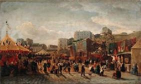 A Fair, Place Saint-Pierre Montmartre in 1861