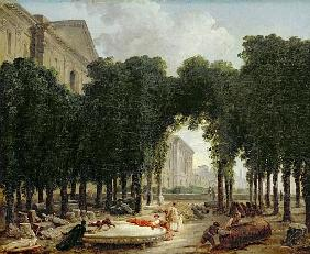 The Louvre and the gardens of the Infanta