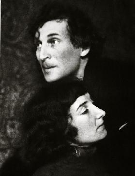 Marc and Bella Chagall (sepia photo)