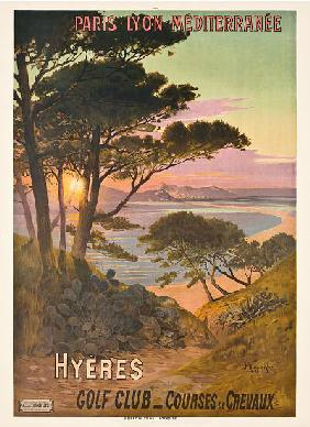Poster advertising Hyeres, France