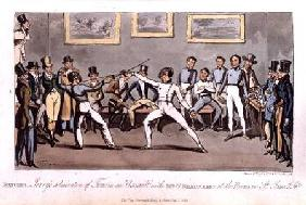 Fencing: Jerry's admiration of Tom in an `Assault' with Mr O'Shaunessy, at the rooms in St. James's