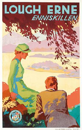 'Lough Erne', a Great Northern Railway Company advertising poster