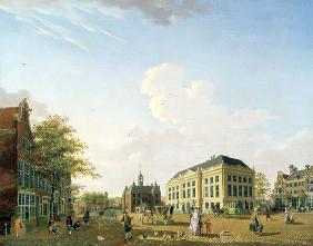 A View on the Leidse plein in Amsterdam