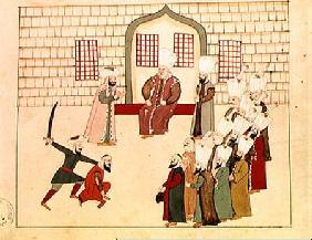 Ms 1671 A vizier watching an execution