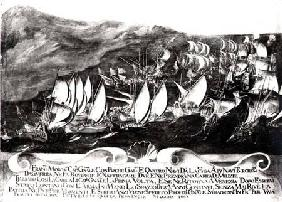 General Francisco Morosini (1618-94) and the Venetian Fleet in an Encounter with the Turkish Fleet o