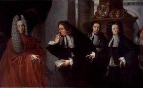 A Judge and Three Advocates, Venetian School