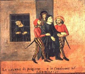 Life of Antonio di Guiseppe Rinaldeschi - Taken from Prison to be Tried, Florentine School