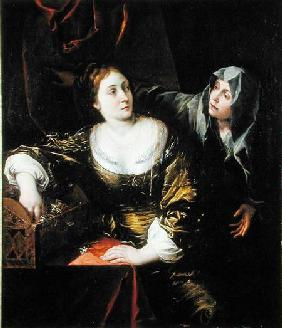 Martha and Mary or, Woman with her Maid