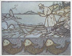 Illustration to the The Tale of the Fisherman and the Fish