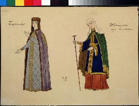 Costume design for the opera The golden Cockerel by N. Rimsky-Korsakov