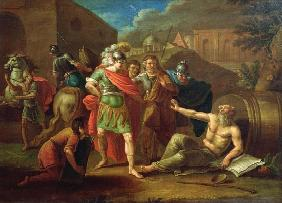 Alexander the Great visits Diogenes at Corinth