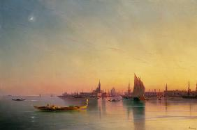 Venice from the Lagoon at Sunset