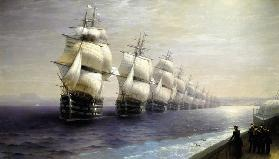 The Parade of Ships in 1849