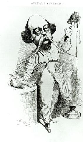 Gustave Flaubert (1821-80) Dissecting Madame Bovary, illustration from ''Parodie'', December 1869