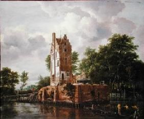 View of Kostverloren Castle on the Amstel