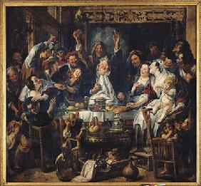 Jordaens, Jacob : The King is Drinking