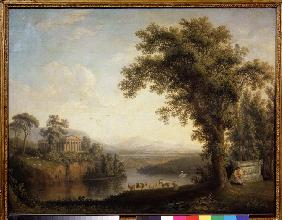 Antique landscape with the Phaethon's tomb