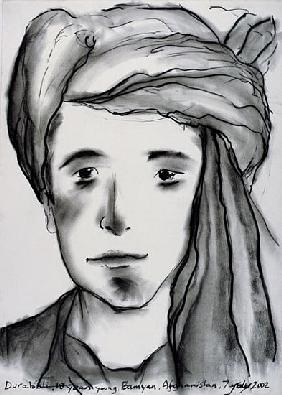 Durabali, 18 years Young, Bamyan, Afghanistan, 2002 (charcoal on paper)