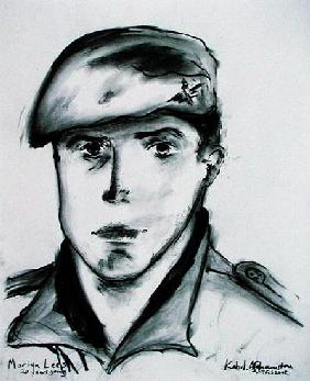 Martyn Lees, Kabul, Afghanistan, 19th February 2002 (charcoal on paper)