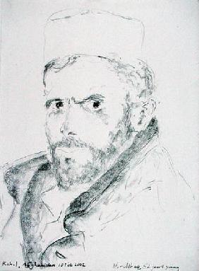 Nurullhaq, Kabul, Afghanistan, 10th February 2002 (charcoal on paper)