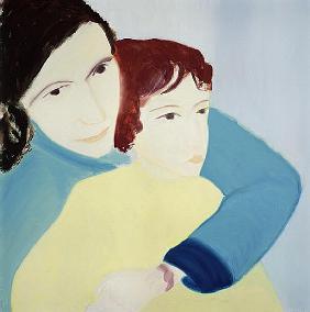 Radmila and Claude Sutton, 1989 (oil on canvas)