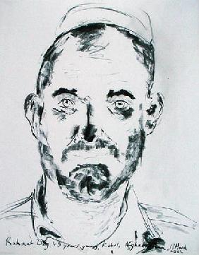 Rahmat Big, Kabul, Afghanistan, 19th March 2002 (charcoal on paper)