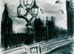 Westminster Birds, 1994 (charcoal on paper)
