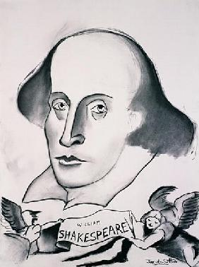 William Shakespeare (1564-1616) 1994 (charcoal on paper)
