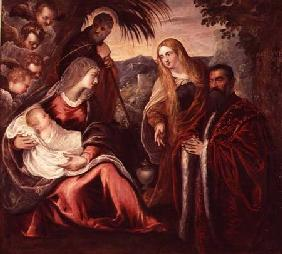 Holy Family with Matteo Saranzo