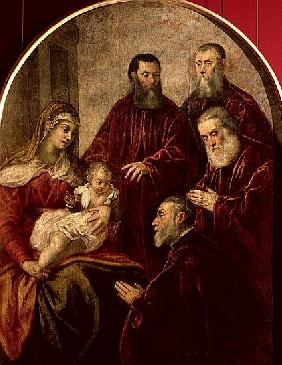 Madonna and child with four Statesmen