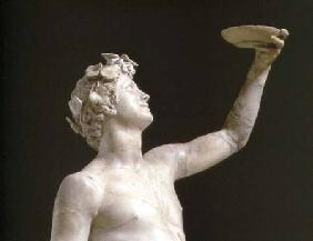 Bacchus, detail of the head, sculpture