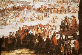 The Fair at Impruneta, detail of the right hand side