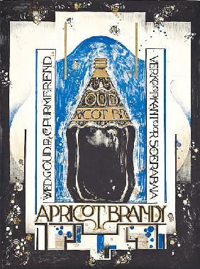 Poster advertising apricot brandy, for the wine and sherry seller Oud