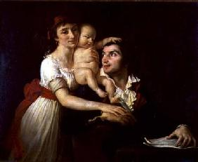 Camille Desmoulins (1760-94) his wife Lucile (1771-94) and their son Horace-Camille (1792-1825)