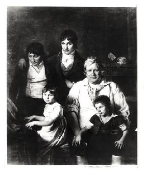 Family Portrait, formerly known as Michel Gerard (1737-1815) member of the Convention, with his Fami